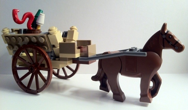 Horse and Cart from 9469 LEGO Lord of the Rings Gandalf Arrives 2012
