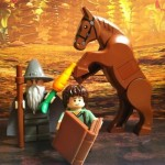 LEGO Frodo Gandalf and Horse Minifigures from LEGO Lord of the Rings 9469 Gandalf Arrives