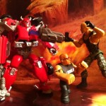 WWE The Rock vs. Transformers Cliffjumper vs. G.I. Joe Roadblock
