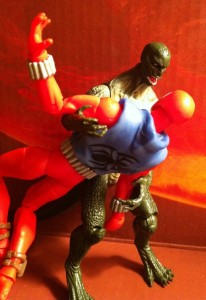 Reptile Blast Lizard Figure Fighting Scarlet Spider-Man Action Figures