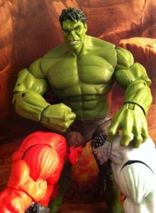 "Avengers Movie 6"" Hulk Bangs Red and Grey Hulks Heads Together Figures"