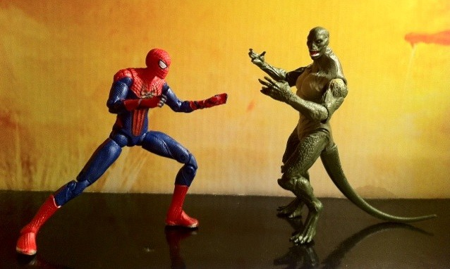 "Amazing Spider-Man Lizard and Ultra Poseable Spider-Man 4"" Figures 2012 Hasbro"