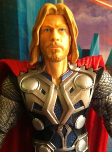 "Close-Up of Avengers 6"" Thor Studio Series Movie Action Figure Hasbro 2012"