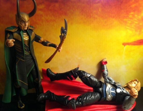 "Avengers Movie Figures Thor and Loki Fight 6"" Studio Series Walmart Exclusives Hasbro"
