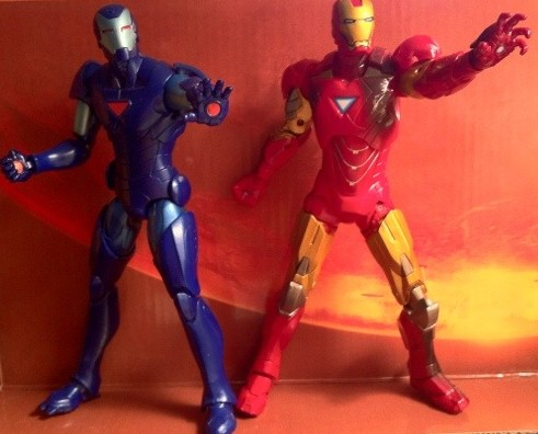 "Marvel Legends Stealth Iron Man and Avengers Iron Man 6"" Action Figures"