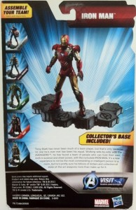 "Cardback Avengers Iron Man Movie 6"" Action Figure Studio Series Hasbro 2012"