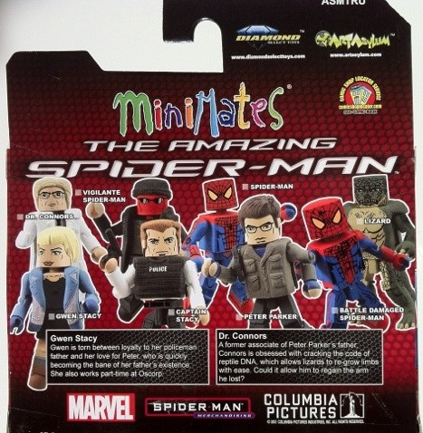 Cardback Gwen Stacy & Dr. Curt Connors Minimates Amazing Spider-Man 2012