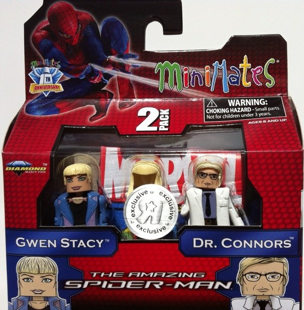 Packaged Gwen Stacy & Dr. Curt Connors Minimates Amazing Spider-Man 2012