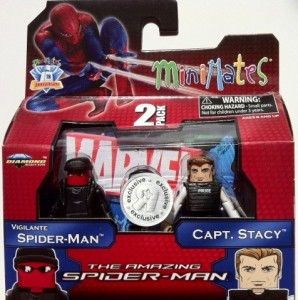 Packaged Amazing Spider-Man Minimates Captain Stacy & Vigilante Spider-Man Figures
