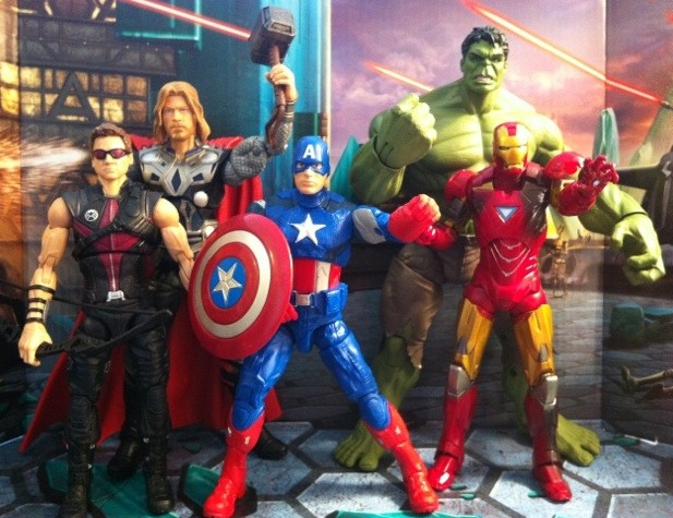"Avengers Movie Studio Series Action Figures 6"" Complete Set Hasbro 2012"