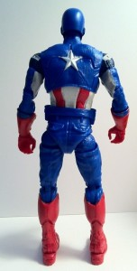 "Avengers Captain America 6"" Marvel Legends Back of Action Figure Movie 2012 Hasbro"