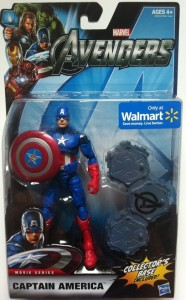 "Avengers Captain America 6"" Action Figure In Package"