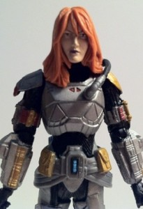 Close-Up of Shae Vizla Old Republic Action Figure Star Wars Vintage Collection