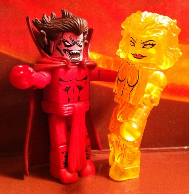 Mephisto and Magma Minimates Figures Getting Ready to Make Out