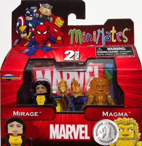 Packaged Marvel Minimates Mirage and Magma New Mutants Two-Pack 2012