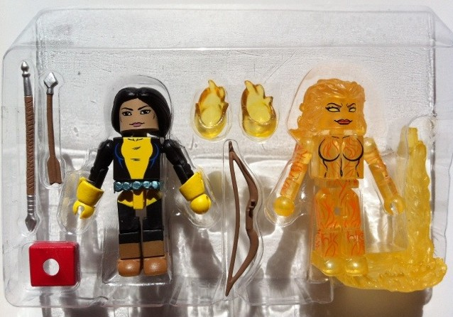 Marvel Minimates Mirage and Magma In Bubble New Mutants Two-Pack 2012