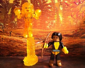 Marvel Minimates Magma & Dani Moonstar Figures 2012 Diamond Select Toys