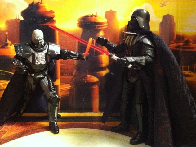 Darth Malgus vs. Darth Vader Star Wars Action Figures Battle