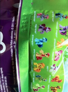 Code Number on Flap of My Little Pony Blind Bags Series 2