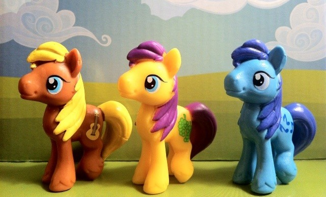 My Little Pony Boy Ponies Goldengrape Noteworthy and Meadow Song