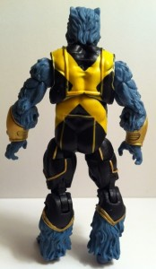 Back of Marvel Universe Beast Action Figure Hasbro 2012