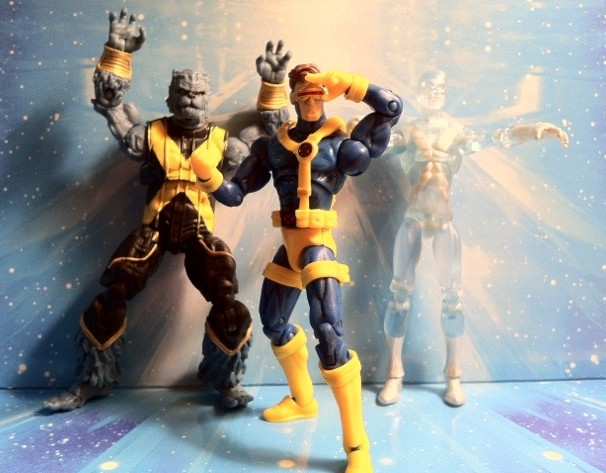 Original X-Men Marvel Universe Action Figures Beast Cyclops and Iceman