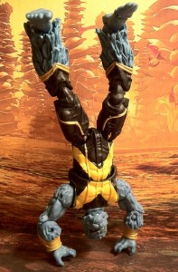 Marvel Universe Astonishing Beast Figure Upside-Down Standing on Head