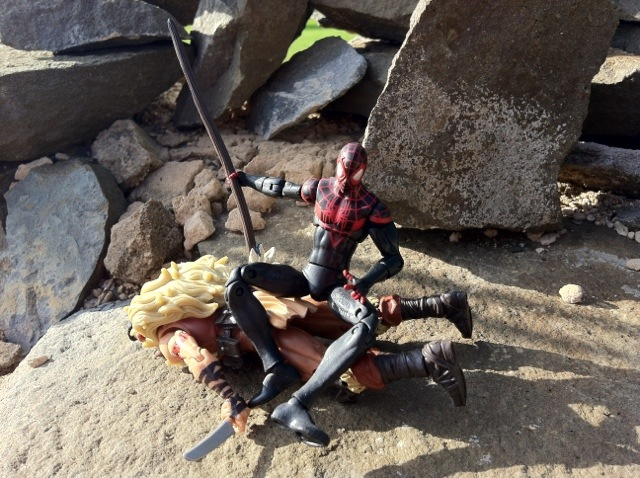 Miles Morales Spider-Man Defeats Kraven the Hunter Action Figures Marvel Universe 2012