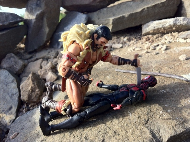 Kraven beats up Miles Morales Ultimate Spider-Man Action Figures Marvel Universe 2012