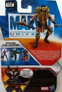 Marvel Universe Kraven the Hunter Cardback Hasbro 2012
