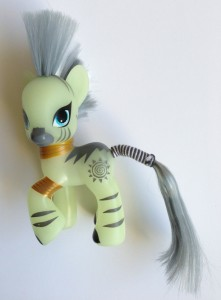 Front View of My Little Pony Zecora Cartoon Toys Figure
