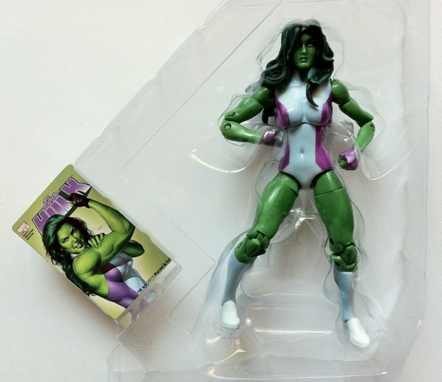 She-Hulk Marvel Universe Figure in Bubble with Collectible Comic Shot