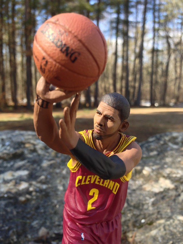 NBA 22 Sports Picks Kyrie Irving Figure Shoots Spaulding Basketball