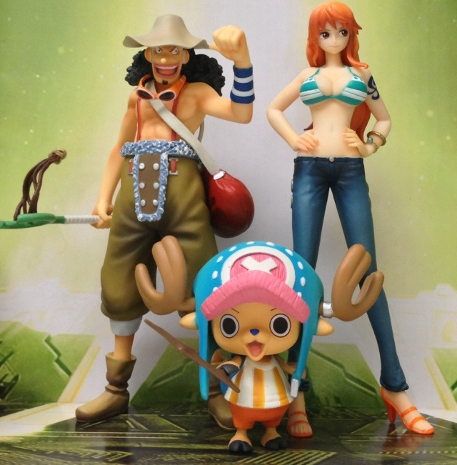One Piece FAZ Usopp Nami and Chopper Bandai Figures