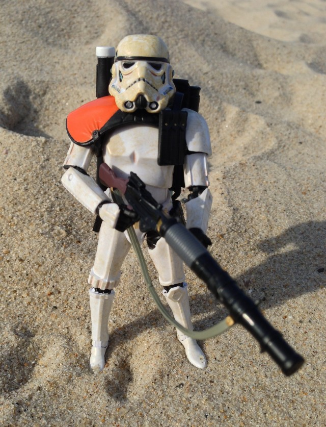 Black Series Star Wars Wave 1 Sandtrooper with Light Repeating Blaster Rifle