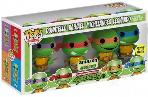 Funko TMNT POP Vinyls Glow in the Dark Amazon Exclusive Set