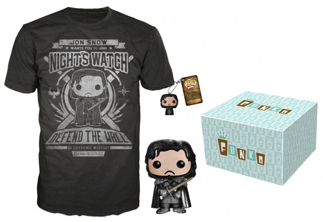 Funko Game of Thrones Jon Snow Bundle with T-Shirt and POP Vinyls