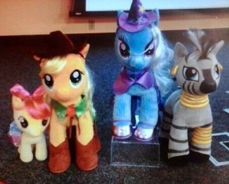Build-A-Bear My Little Pony Zecora Applejack Apple Bloom Trixie