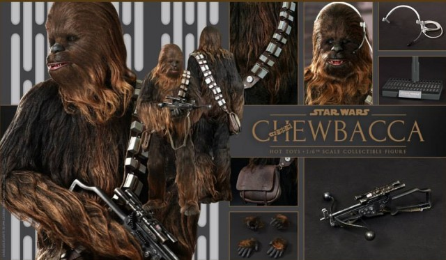 Hot Toys Chewbacca Accessories Headset Bowcaster Figure Stand