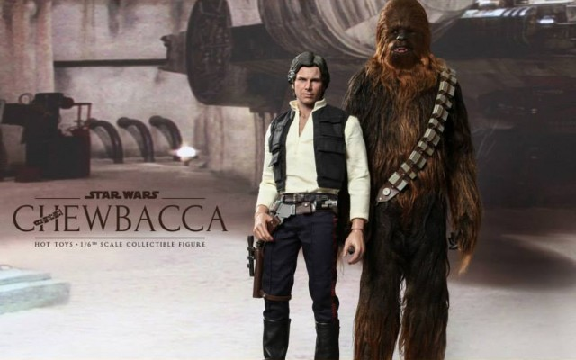 Hot Toys Han Solo and Chewbacca Movie Masterpiece Series Figures